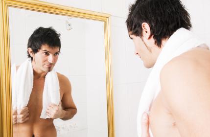 man mirror
